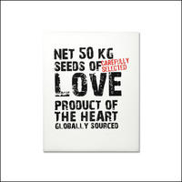 Hand printed Love Message print