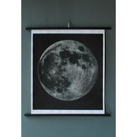 Moon Chart Print - Signed.  Apollo!