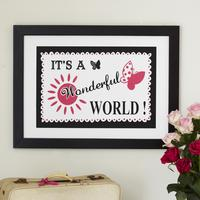 Pink/Black Wonderful World Limited Edition Print