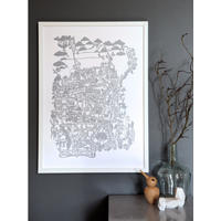 Famille Summerbelle San Fransisco Map Print In Silver