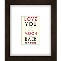 East of India Moon And Back Framed Print