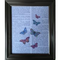 Vintage Style Book Watercolour Butterfly Print 10