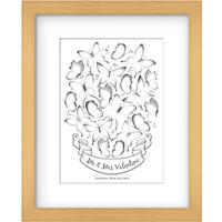 Lillypea Personalised Butterflies Fingerprint Framed Print