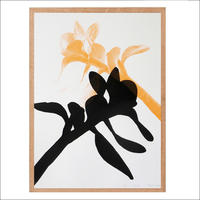 screen print – botanical, black & orange