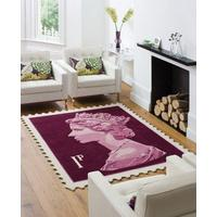 Mauve 1p Rug (Officially Licensed by Royal Mail Group Ltd)