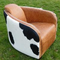 Cowhide and Leather  Hurlingham Chair IN STOCK 25% OFF