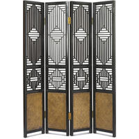 Carved Ming Screen - black lacquer