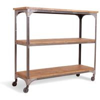 Harlem Industrial Shelf Rack On Wheels