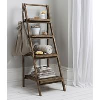 Rustic Ladder Shelf Unit
