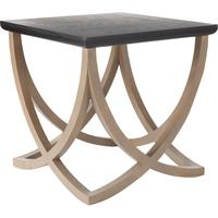 Felix Wooden Sofa Side Table, Low from OKA
