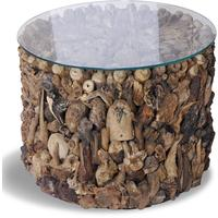 Shore Driftwood Drum Side Table