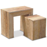 Stone Cubed Nest of 2 Tables
