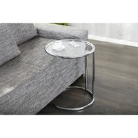 Design art deco side table cocktail glass table chrome frame