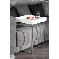 Design butlers' tray table white with chrome rack side table