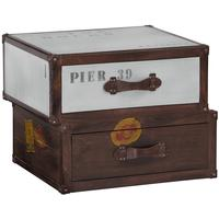 Quest 2 Drawer Trunk Style Side Table