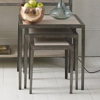 Marseille Wood and Metal Nesting Tables