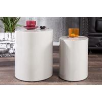 Design - 2pcs high gloss grey side table