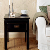 Hanoi Black Lacquer Oriental Side Table
