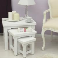 Lila White Painted Nest Of Tables