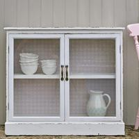 White Glass Fronted Cabinet