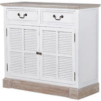 Newport White Washed 2 Door Cabinet