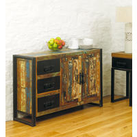 Industrial Chic Reclaimed Wood Sideboard with drawers