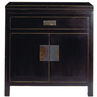 Hanoi Black Lacquer Oriental Small Sideboard