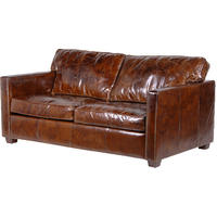 Magnus Brown Leather Sofa