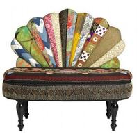 Peacock Patchwork Sofa