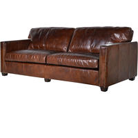 Vintage Leather Manhattan Three Seater Sofa