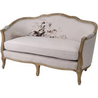 Young & Battaglia For Libra Printed Cream Sofa