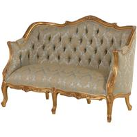 Versailles Gilt Upholstered 2-Seater Sofa