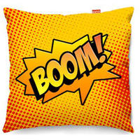 Comic Boom Orange Sofa Cushion - 2 Sizes