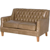 Vintage Leather Studded Sofa