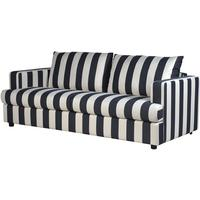 Valentina Black & Cream Striped Sofa
