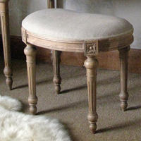 Antoinette Oak Stool by The French Bedroom Company