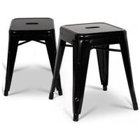 Style Small Industrial Stool (Pair) by Interior Addict
