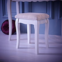 Loire Pale Cream Upholstered Stool by Daisy West