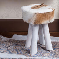 Chalet Fireside Stool by The French Bedroom Company