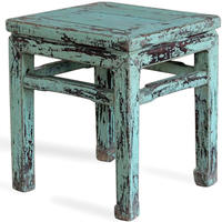 Blue Lacquer Stool