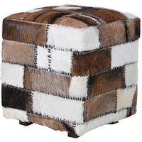 Patch Square Hide Stool