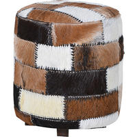 Patch Round Hide Stool