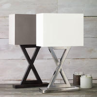 Monochrome 'X' Lamp, Narrow from OKA