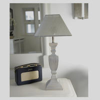 Grey Wash Squared Urn Table Lamp