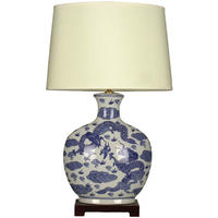 Blue White Dragon Lamp