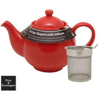 Brights Red Teapot with Filter - 6 Cup