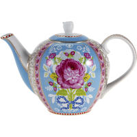 Pip Studio - Floral Teapot - Blue - Small