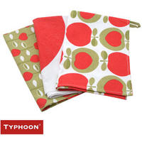 Typhoon Apple Heart Tea Towels