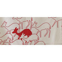 Skinny Laminx Tea Towel - Deer Red