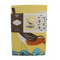 Magpie Birdy Robin and Blue Tit Tea Towel Set